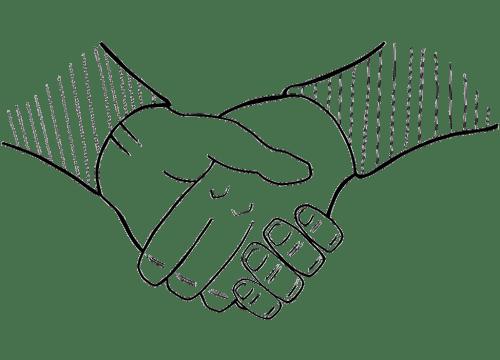 Handshake Drawing - Responsibility